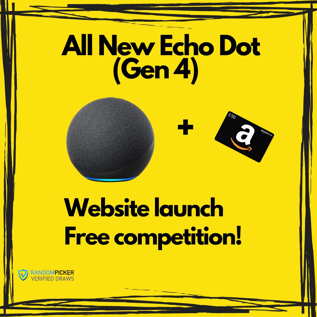 Amazon Echo Dot Gen (Gen 4) + £50 Amazon Voucher
