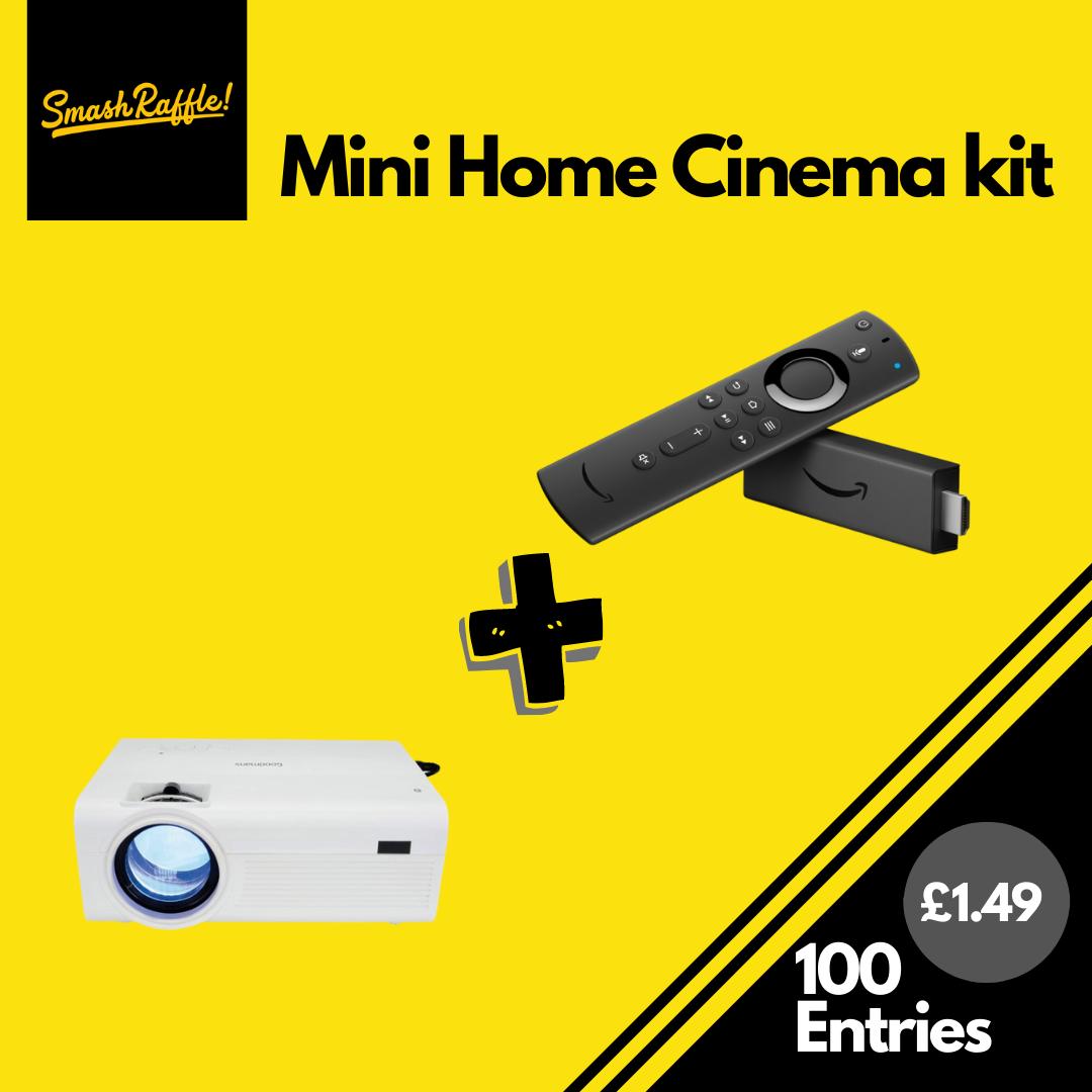 Mini projector and amazon fire stick